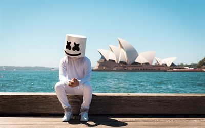Marshmello, DJ, caras, mar, house progressivo