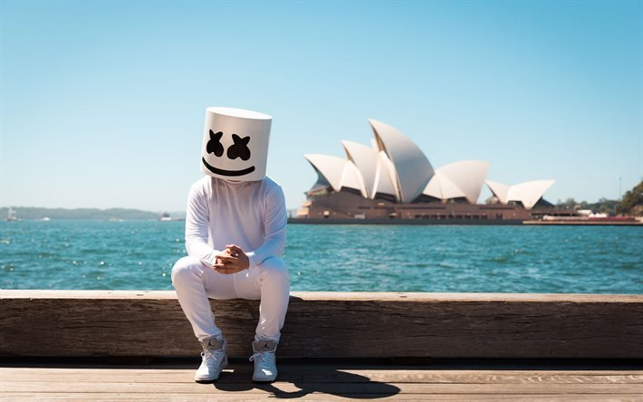 Marshmello, DJ, guys, sea, progressive house