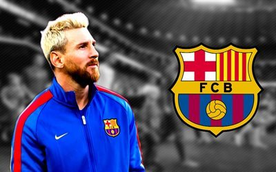 Lionel Messi, football stars, blonde, 2016, Leo Messi