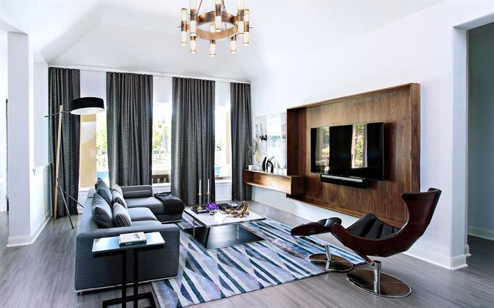 Herunterladen hintergrundbild modernes design, wohnzimmer ...