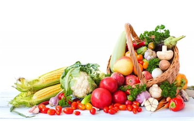 healthy food, diet, concepts, vegetables, mountain of vegetables