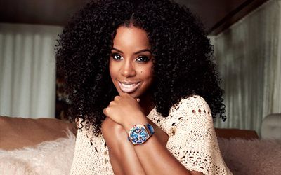 Kelly Rowland, 4K, American singer, smile, portrait, brunette, beautiful woman, American celebrities, USA