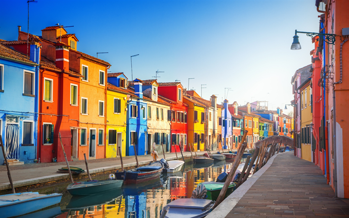 Download Wallpapers Venice Italy Urban Landscape Sunrise