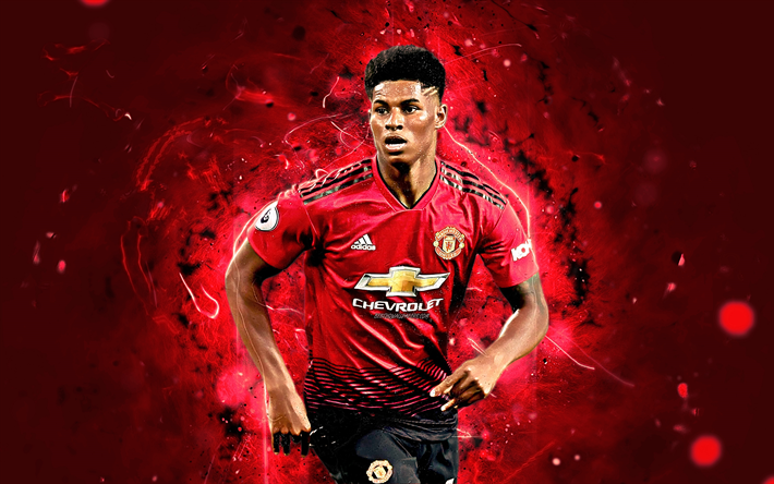 Download Wallpapers Rashford Match Football Stars