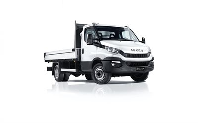 Iveco Daily, 2020, exterior, cargo truck, new white Daily, Iveco