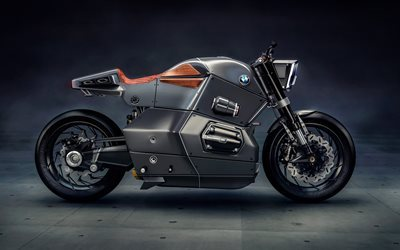 Bmw Urban Racer, motorcycles of future, carbon fiber body, BMW motorcycles