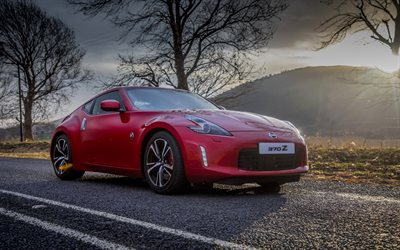 Nissan 370Z, 4k, 2017 cars, tuning, red 370Z, japanese cars, Nissan