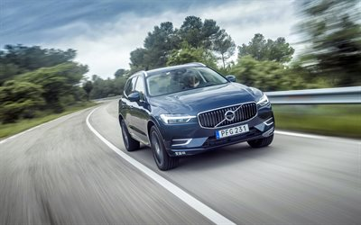 4k, Volvo XC60, T6, 2018 cars, road, crossovers, new XC60, Volvo