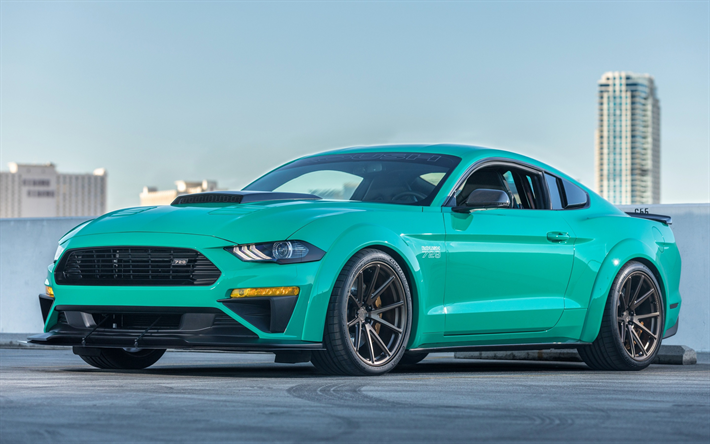 ford mustang 2018 roush 729 tuning version turquoise mustang american cars. Black Bedroom Furniture Sets. Home Design Ideas