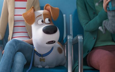 The Secret Life of Pets 2, 2019, poster, promo, screenshots, new cartoons, 3d dog