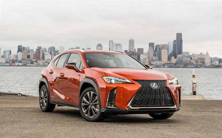 2020, Lexus UX, exterior, front view, compact crossover, new orange UX, japanese cars, UX 250h, Lexus