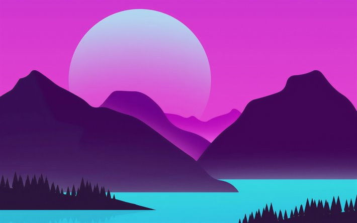 Download Wallpapers Abstract Summer Landscape Mountains