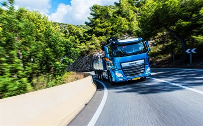 DAF CF 450 FAQ, 4k, road, 2019 trucks, cargo transport, 2019 DAF CF, LKW, DAF, HDR
