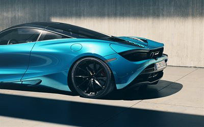 McLaren 720S, 2019, blue sports coupe, tuning 720S, new blue 720S, British luxury sports cars, McLaren