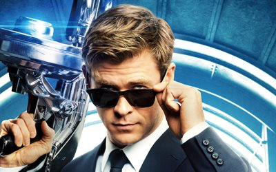 Agent H, 4k, Men In Black International, 2019 movie, poster, Science fiction, Chris Hemsworth