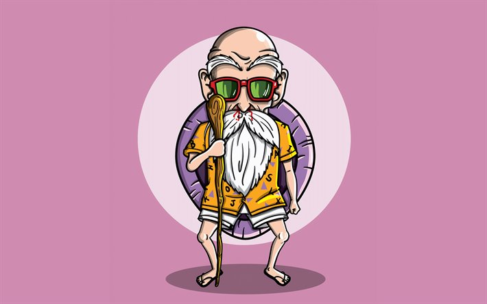Download Wallpapers Master Roshi 4k Minimal Dbz Characters Dragon Ball Artwork Dragon Ball Z Master Roshi Minimalism Dbz Master Roshi Dbz For Desktop Free Pictures For Desktop Free