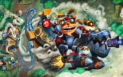 Ziggs, Blitzcrank, Corki, MOBA, 武士, League of Legends, 作品, League of Legendsの文字