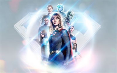 Supergirl, 2020, 4k, american tv series, promotional materials, poster, Melissa Benoist