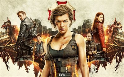 Resident Evil The Final Chapter, poster, 2016, action