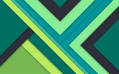 Download Wallpapers Green Abstraction Lines Material