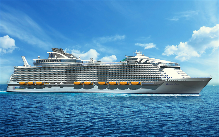 Download Wallpapers 4k Harmony Of The Seas Cruise Ship Sea Oasis Class Ms Harmony Of The Seas For Desktop Free Pictures For Desktop Free