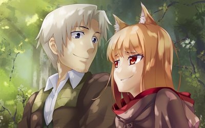holo -, kraft lawrence, 4k, spice and wolf, manga, ookami to koushinryou