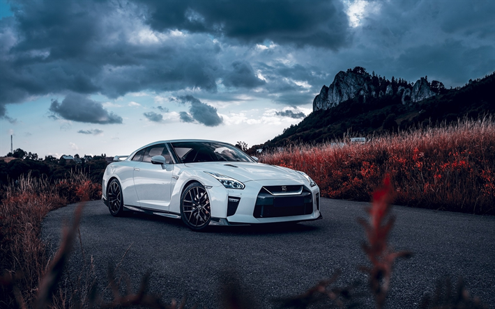 Download wallpapers r35 nissan gt r tuning supercars tunned gtr white gt r japanese cars - Nissan skyline gtr r35 wallpaper ...