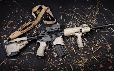 M4A1, American assault rifle, tuning, modern weapons, 4k, M4 Carbine