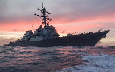 USS John S McCain, destroyer ship, DDG-56, US Navy, USA, sea, warships, Arleigh Burke-class