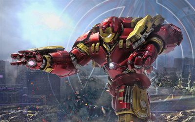 Hulkbuster, 4k, 2018 movie, artwork, superheroes, Avengers Infinity War
