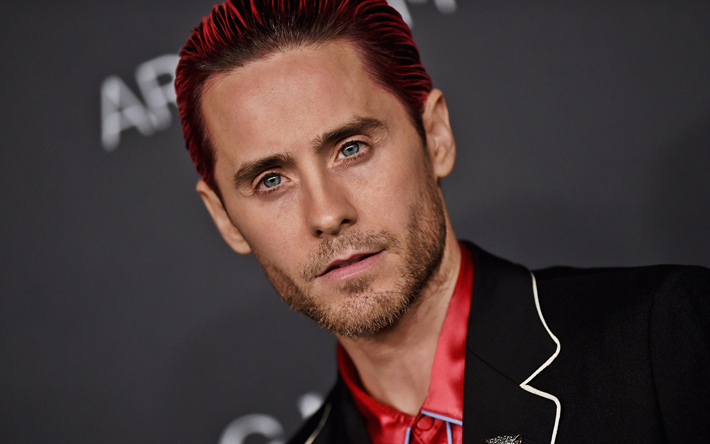 Jared Leto, american rock musician, Thirty Seconds to Mars, american actor, red hair, portrait, photoshoot