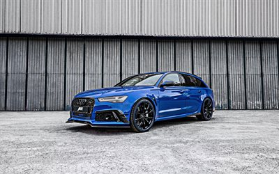 ABT, tuning, Audi RS6 Nogaro Edition, 2018 cars, 4k, tunned, rs6, german cars, blue rs6, Audi