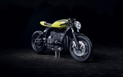 BMW R100, diamond atelier, bobber, cool bike, yellow BMW