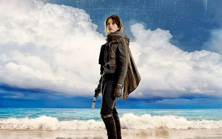 Download Wallpapers Rogue One 2016 A Star Wars Story Jyn Erso Poster Felicity Jones For Desktop Free Pictures For Desktop Free
