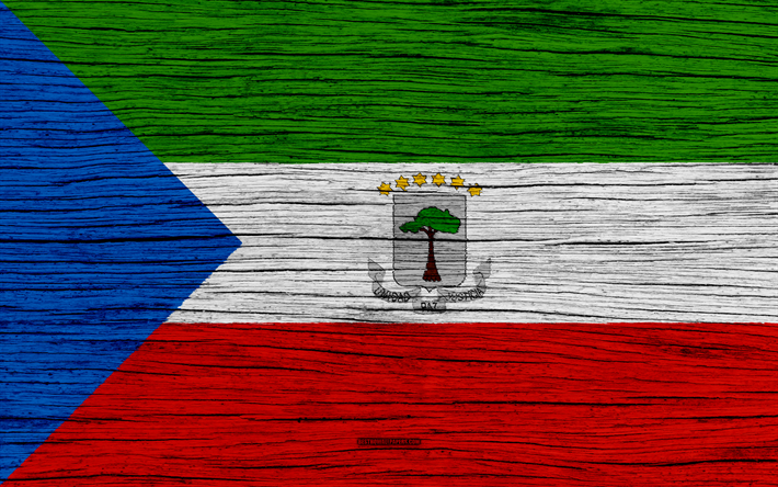 Download Wallpapers Flag Of Equatorial Guinea 4k Africa