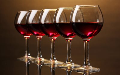 red wine, 4k, glass wine glasses, wine concepts