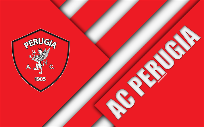 Download wallpapers AC Perugia Calcio, 4k, material design ...