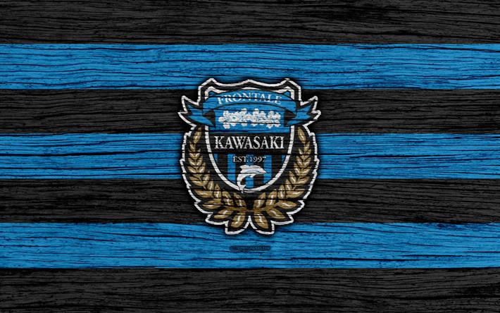 Kawasaki Frontale 4k Emblem J League Wooden Texture Japan