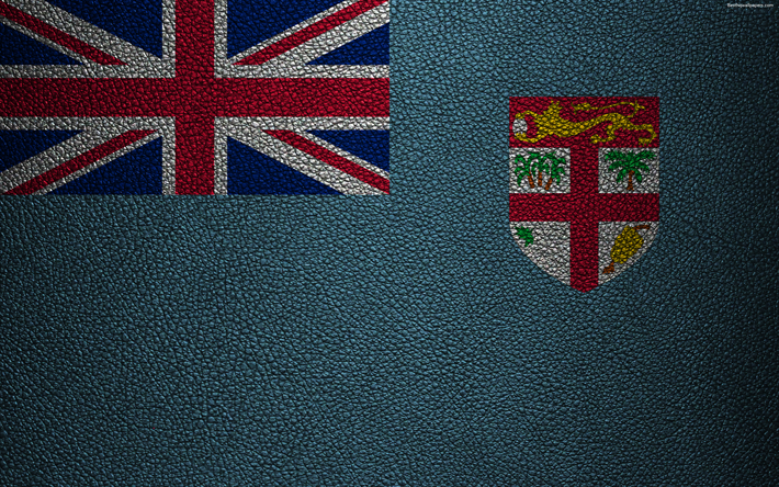 Flag Of Fiji 4k Leather Texture Oceania Flags The