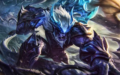Trundle, MOBA, League of Legends, 2020 games, warrior, artwork, Trundle League of Legends