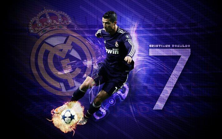 Download Wallpapers Cristiano Ronaldo, Fan Art, Cr7
