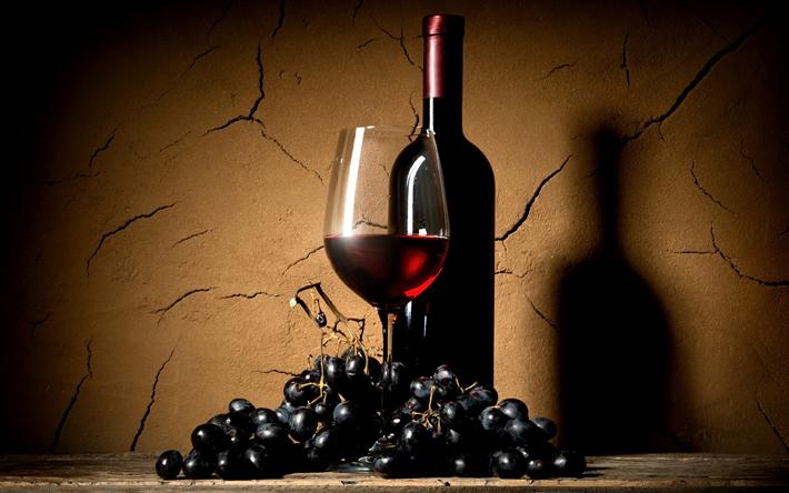 Descargar Fondos De Pantalla Vino Tinto, Botella De Vino