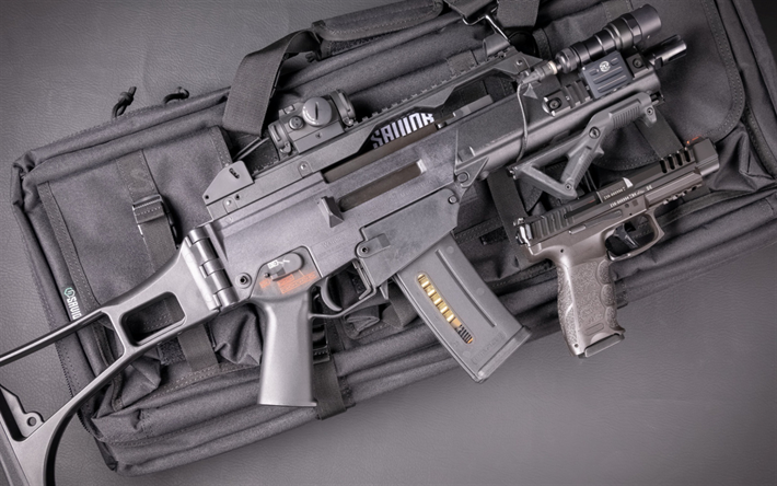 HK G36, HK VP9 SK, assault Rifle, weapon, Heckler and Koch, american rifle