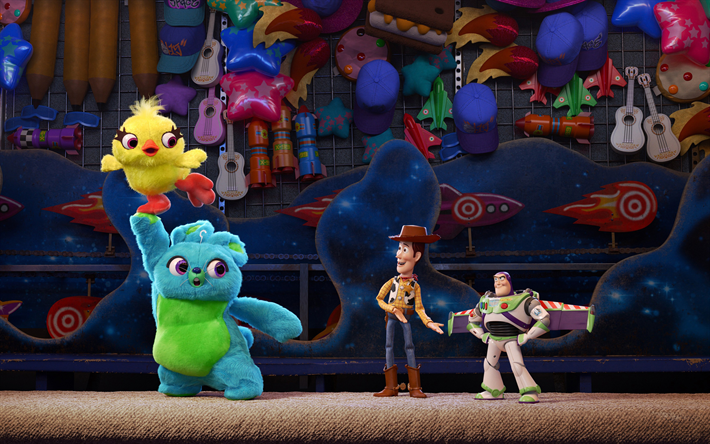 Toy Story 4, 2019, 4k, characters, promo, poster, new cartoon