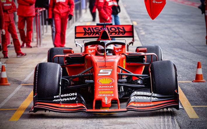 Download Wallpapers 4k  Ferrari Sf90  670  2019 F1 Cars