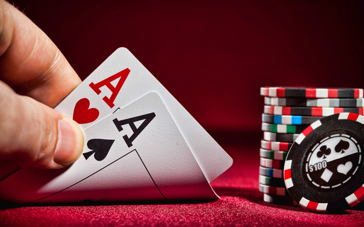Download wallpapers pair of aces, poker, casino, playing cards, casino chips for desktop free. Pictures for desktop free