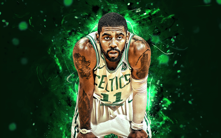 Download Wallpapers Kyrie Irving White Uniform Boston