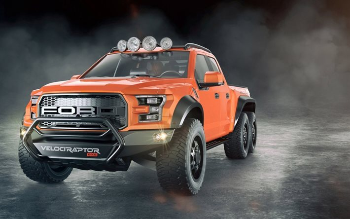 Download wallpapers Ford Raptor Hennessey Velociraptor, 2017