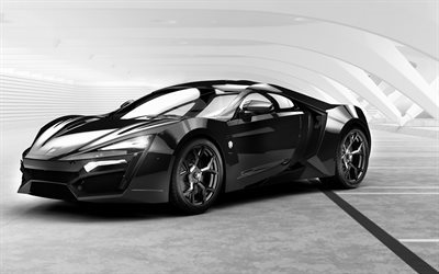 W-Motors, Lykan HyperSport, Hypercar, black Lykan, sports cars