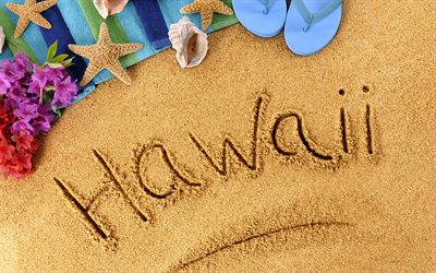 sand, beach, tourism, summer travel, beach accessories, Hawaii concerts, word on the sand, summer